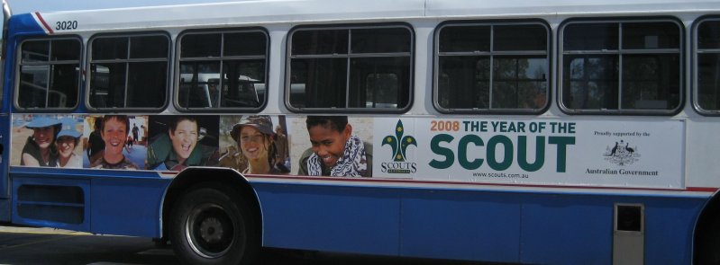 Scout Ad on a bus
